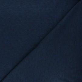 Tissu jersey maille ajourée Diamond - bleu nuit chiné x 10cm