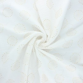Double gauze fabric - raw Fireworks x 10cm