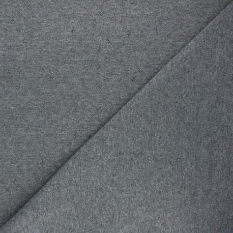 Tissu jersey maille ajourée Diamond - gris foncé x 10cm