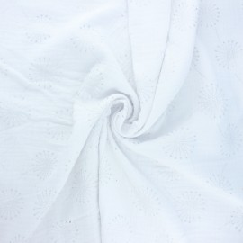 Double gauze fabric - white Fireworks x 10cm