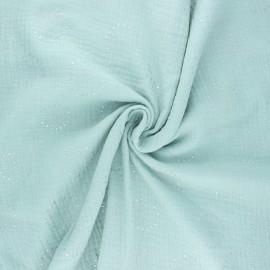 Tissu double gaze de coton Fireworks - opaline x 10cm