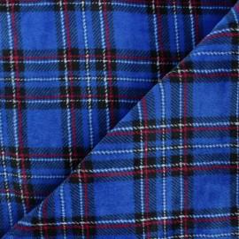 Tissu doudou écossais Glencoe - bleu x 10 cm