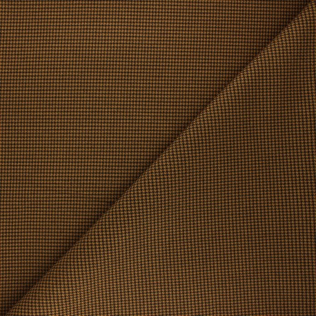Tissu polyviscose élasthanne Lerwick - ocre x 10cm