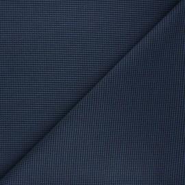 Polyviscose elastane fabric - blue Lurwick x 10cm