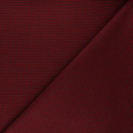 Polyviscose elastane fabric - red Lurwick x 10cm