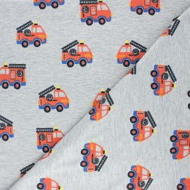 Poppy jersey fabric - mottled grey Safety first x 10cm
