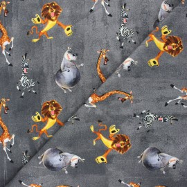 French terry fabric - dark grey Madagascar x 10cm