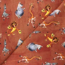 French terry fabric - rust  Madagascar x 10cm