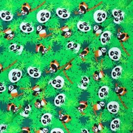 Jersey fabric - green Kung Fu Panda bamboo x 10cm