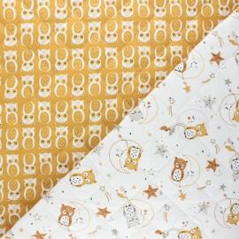 Tissu matelassé réversible Lunazel/Chouni - ocre x 10cm