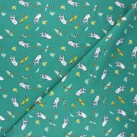 Jersey fabric - green Srumi x 10cm