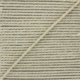 5mm jute cord - natural/gold Cora x 1m