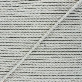5mm jute cord - natural/silver Cora x 1m