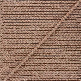 Corde de jute Cora 5 mm - naturel/cuivré x 1m