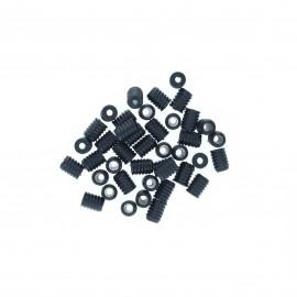 2 hole cord lock metal cylinder carrel toggle stopper Jenna  - black