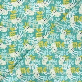Cretonne cotton fabric - green Tanza x 10cm