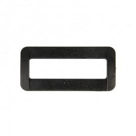 Boucle rectangle plastique - noir