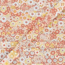 Polycotton bias binding - orange Désirée x 1m