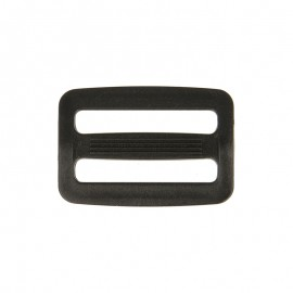 Plastic adjustable bag strap buckle - black