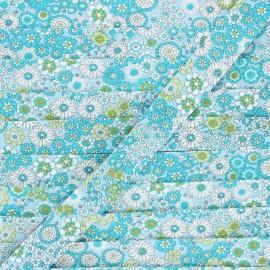 Organic cotton bias binding - blue Désirée x 1m