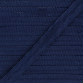 Biais velours 20 mm - bleu marine x 1m