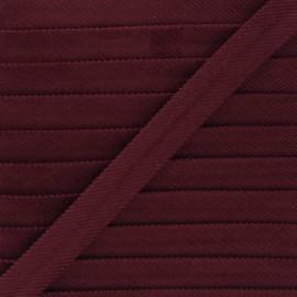 20mm velvet bias binding - garnet x 1m