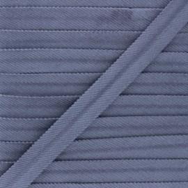 20mm velvet bias binding - gris x 1m