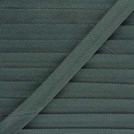 Biais velours 20mm - vert foncé x 1m