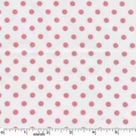 Tissu Dumb Dot Blush x 10cm