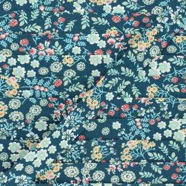 Biais coton bio Florita - bleu pétrole x 1m