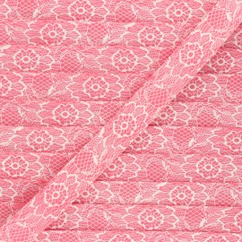 18mm Polycotton bias binding - pink Lacy x 1m