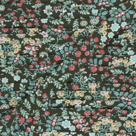 Organic cotton bias binding - khaki green Florita x 1m