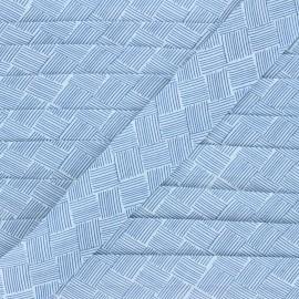 Biais polycoton 30 mm Célia - blanc x 1m