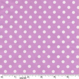 Tissu Dumb Dot Orchidée x 10cm