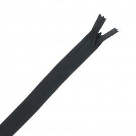 Fermeture Eclair® recyclée invisible non-séparable - noir