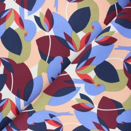 Cotton canvas fabric - multicolor Psitta x 10cm