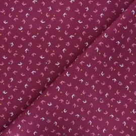 Tissu toile de coton Tista - bordeaux x 10cm