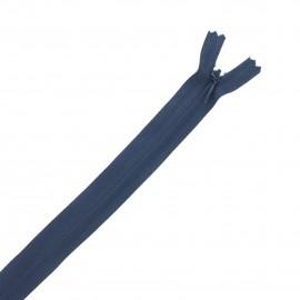Fermeture Eclair® recyclée invisible non-séparable - bleu marine