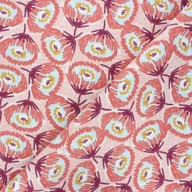 Tissu toile de coton Tesaya - rose clair x 10cm