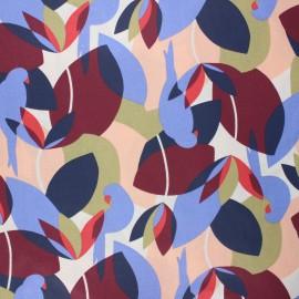 Coated cretonne cotton fabric - multicolor Psitta x 10cm