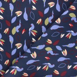 Cotton canvas fabric - midnight blue Miperk x 10cm