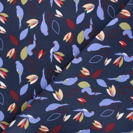 Tissu toile de coton Miperk - bleu nuit x 10cm