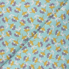 Cotton canvas fabric - celadon Omby x 10cm