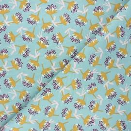 Tissu toile de coton Omby - céladon x 10cm
