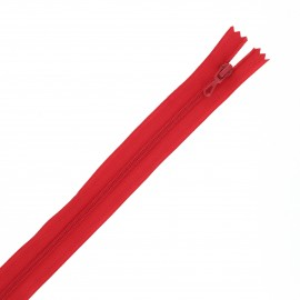 Recycled non-divisible Eclair® zipper - red