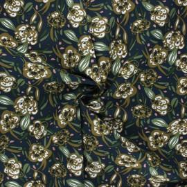 Tissu viscose Zoelie - bleu nuit x 10cm