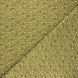 Cretonne cotton fabric - moss green Jikeo x 10cm
