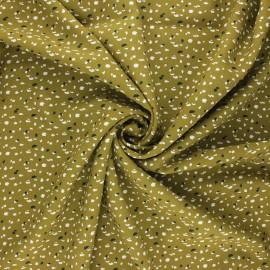 Viscose fabric - moss green Jikeo x 10cm