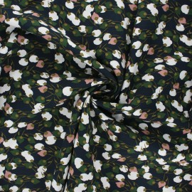 Viscose fabric - midnight blue Kisnek x 10cm