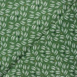 Cretonne cotton fabric - green Vaoy x 10cm